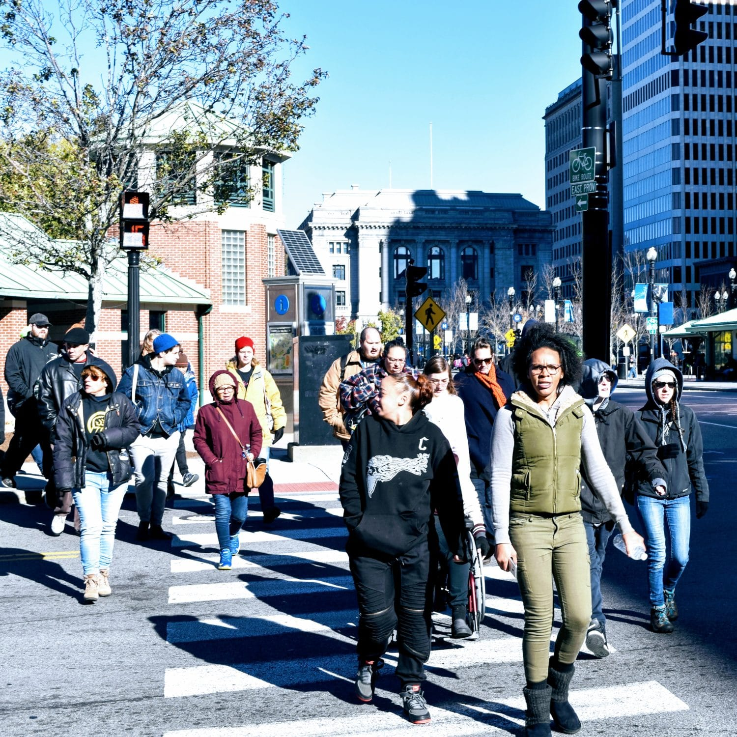 Photo for In wake of police shooting, #JusticeForJoey marches through Providence