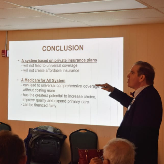 Photo for Dr. J Mark Ryan explains the basics and advantages of single payer health care