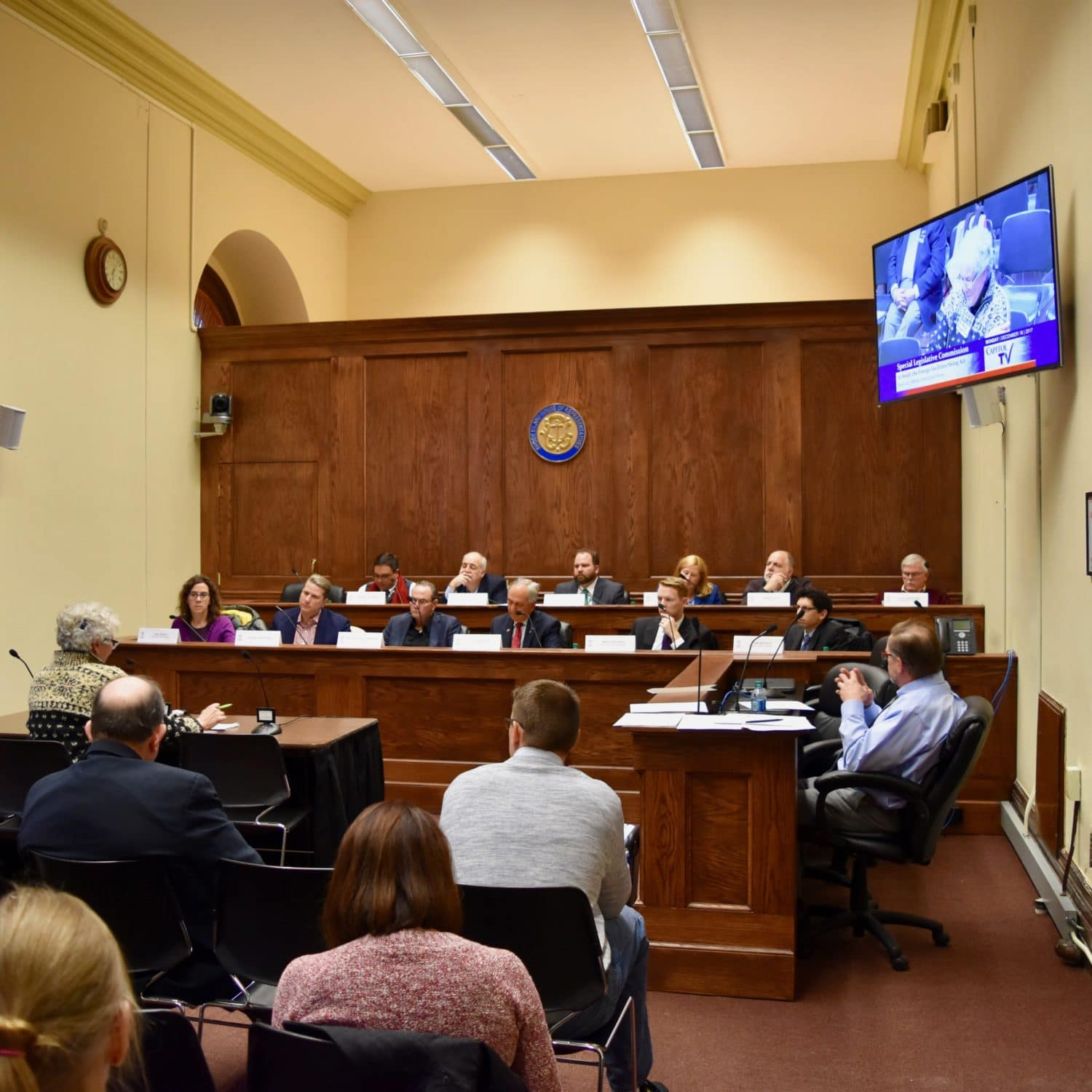 Photo for Public testimony at the Special Legislative Committee to Study the Energy Facilities Siting Act