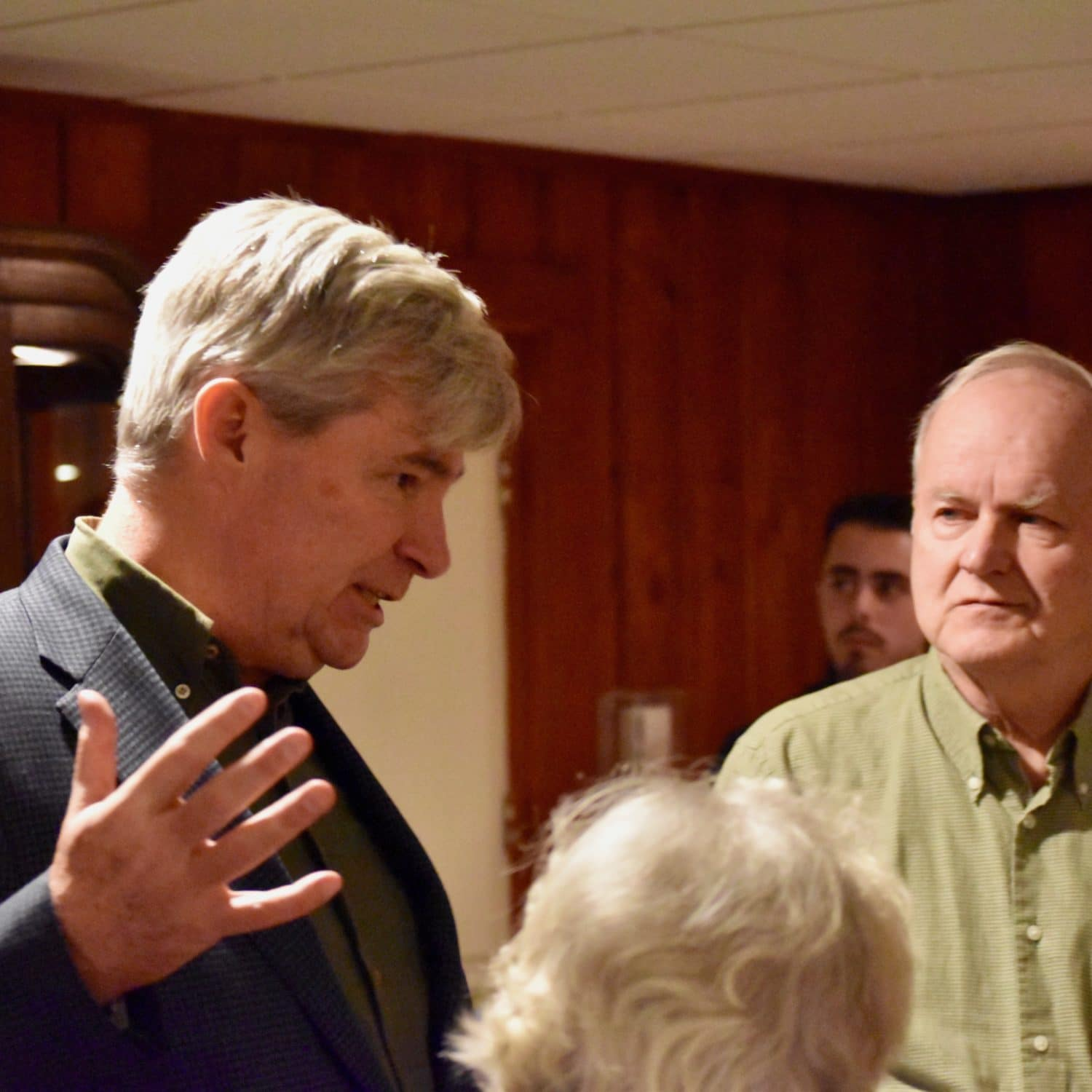 Photo for Sheldon Whitehouse answers tough questions at Woonsocket Town Hall campaign kick-off
