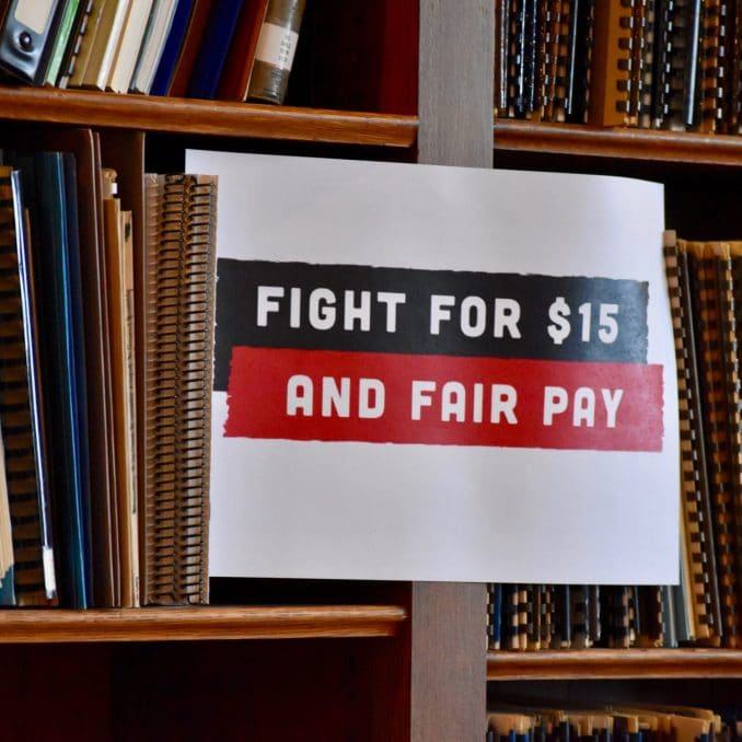 Announcing the campaign for a $15 minimum wage and fair wages