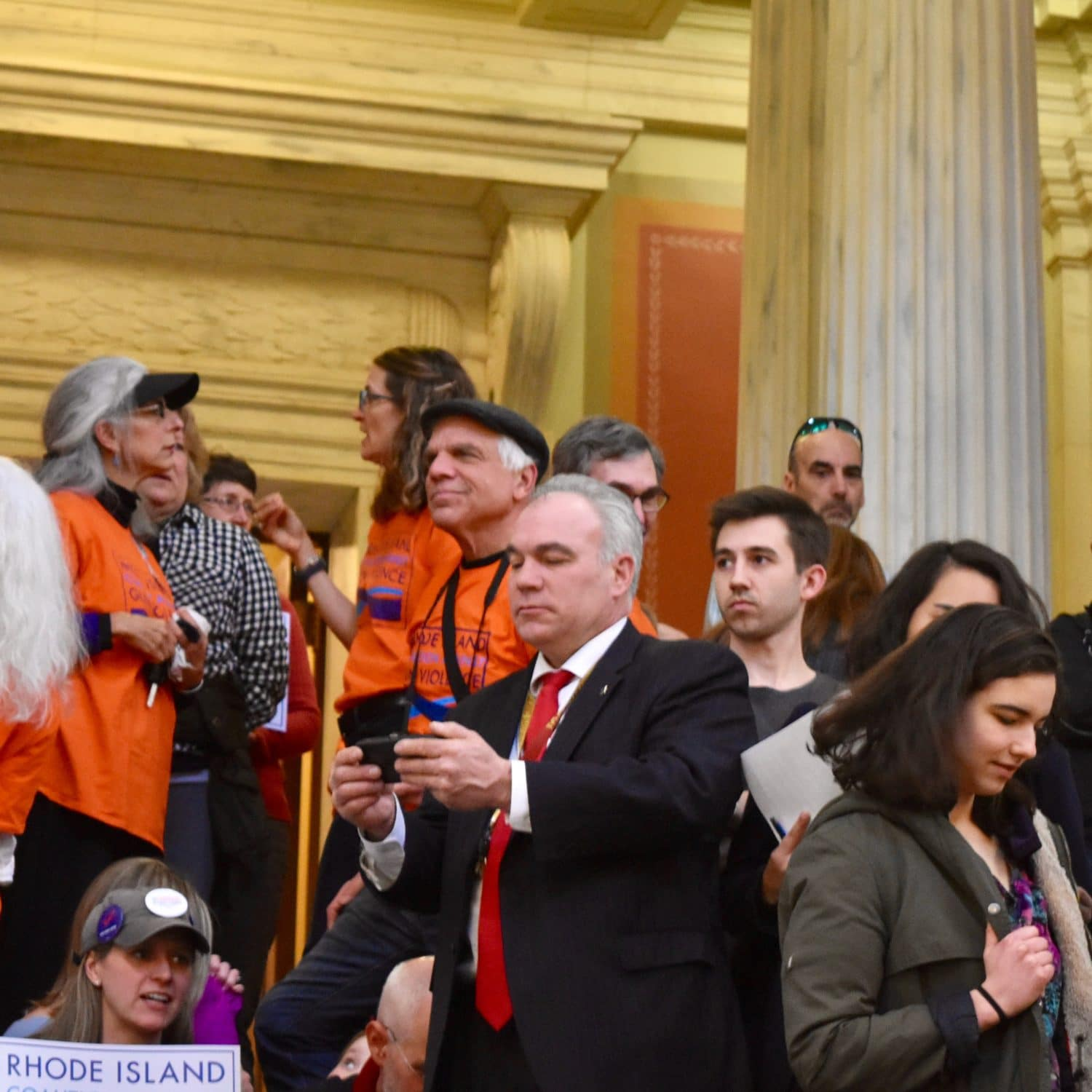 Photo for Republican state representatives call high school student speakers 'props' at State House rally