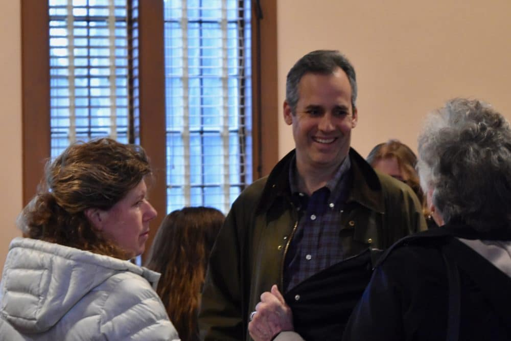 Candidate for Governor Matt Brown receives standing ovation in Burrillville