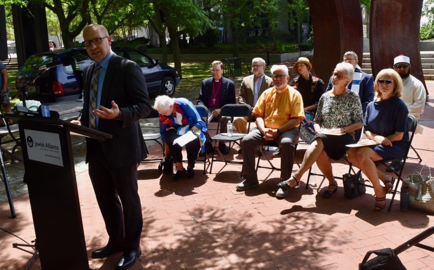 Photo for Rhode Island interfaith leaders decry separating families at the border