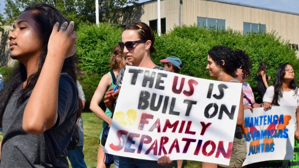 Rally outside ACI to end all family separation