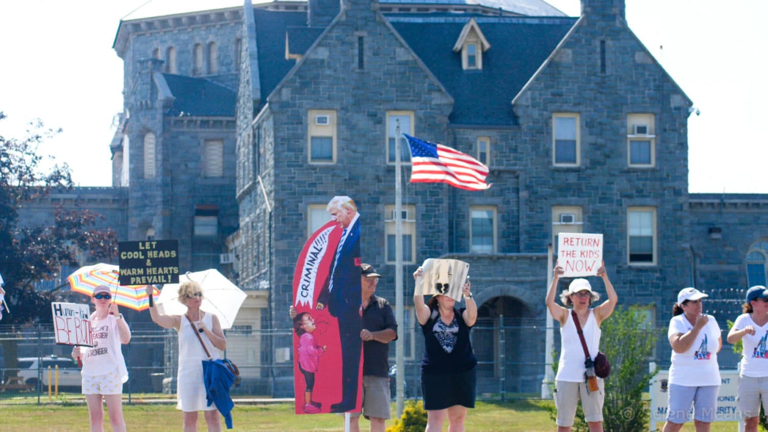 Photo for Selene Means – Photos from End All Family Separation rally in Cranston