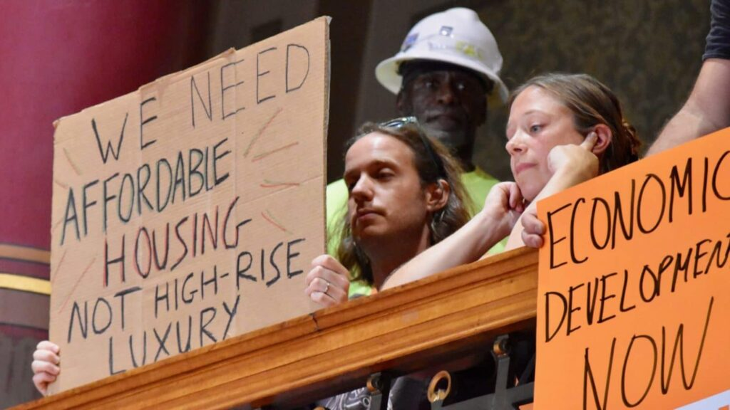Contentious testimony before the Providence City Council on Fane Tower