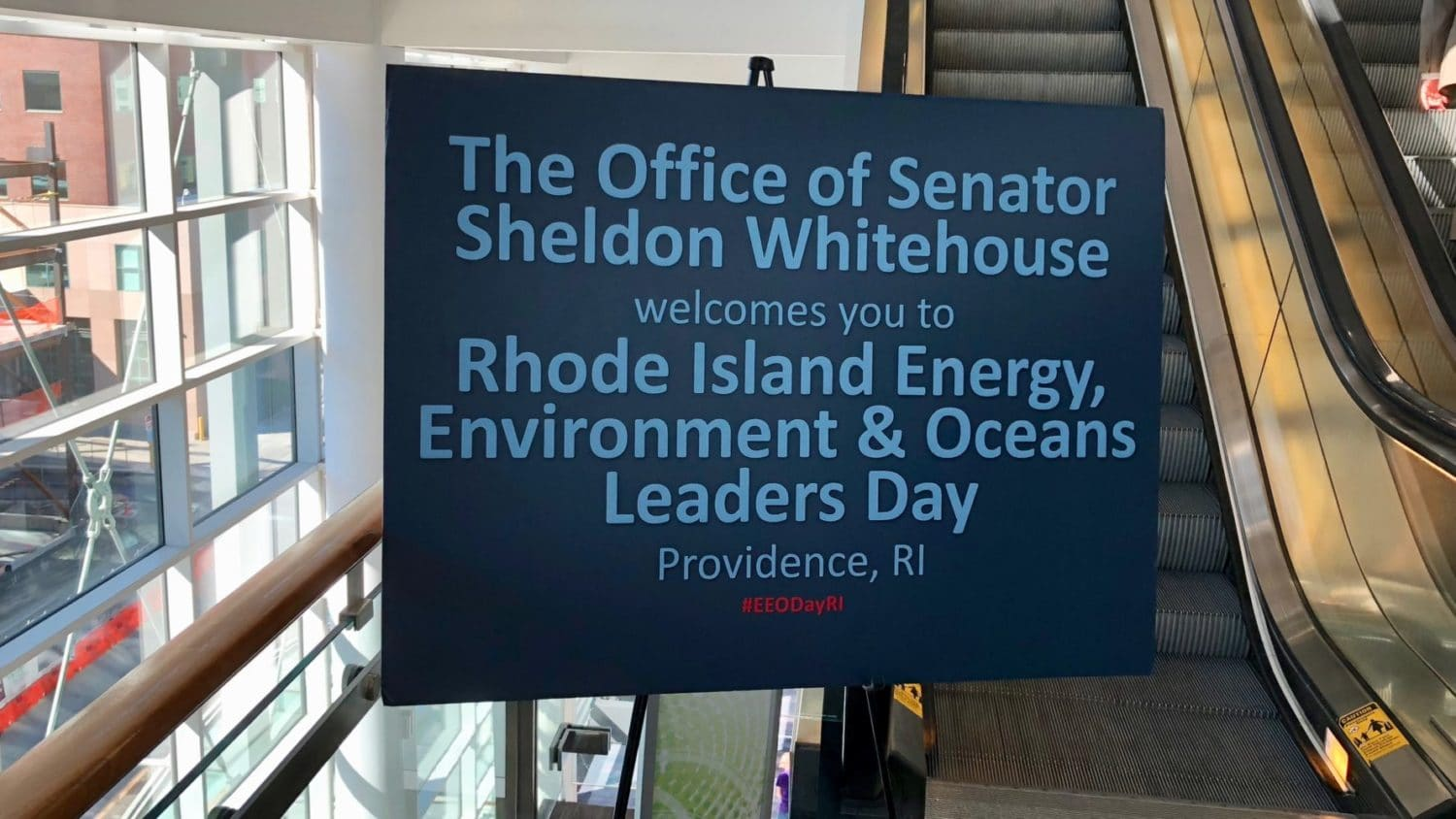 Photo for Senator Whitehouse's annual climate event details the paucity of our response