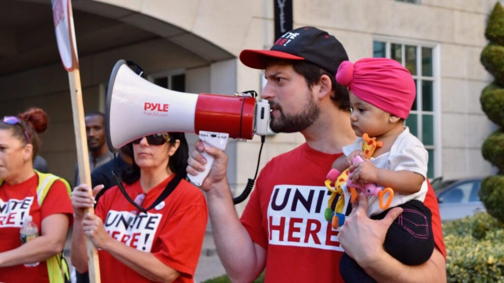 Hotel workers picket Omni Providence for fair wages, reasonable workloads and affordable health care