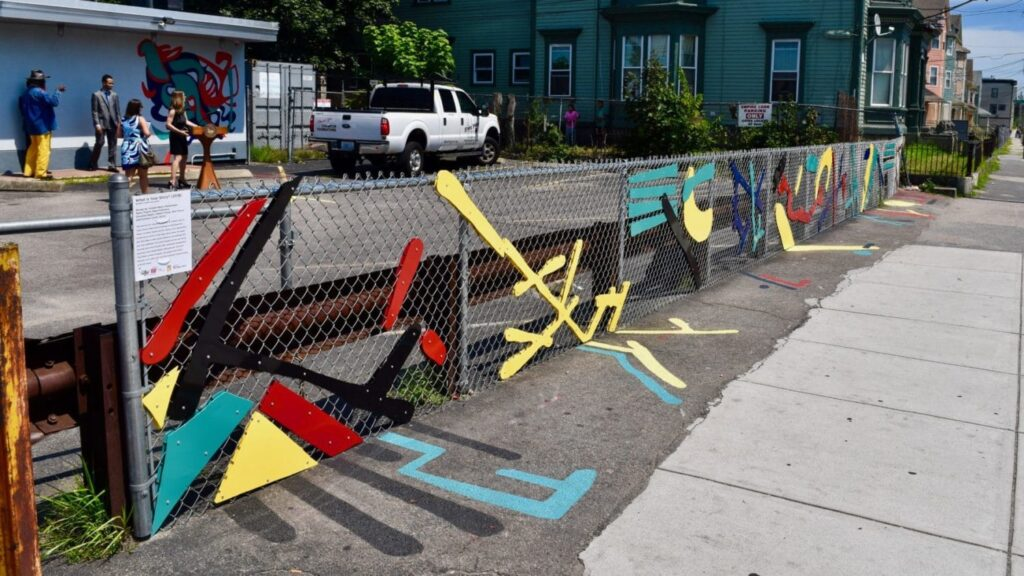 Student designed art unveiled at Trinity Plaza in Providence