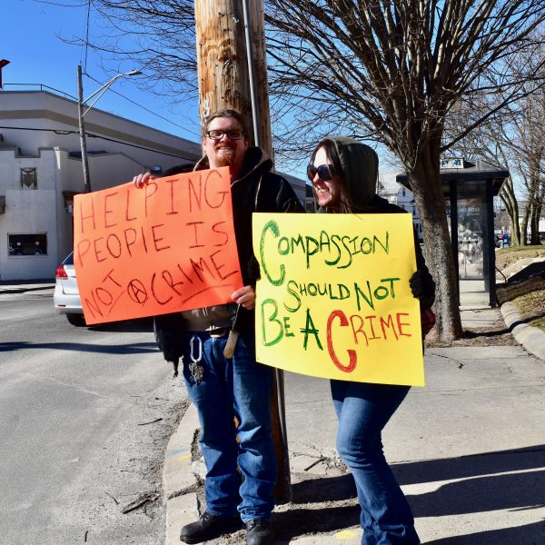 Photo for West Warwick asked to reconsider anti-panhandling signs resolution by homeless advocacy groups