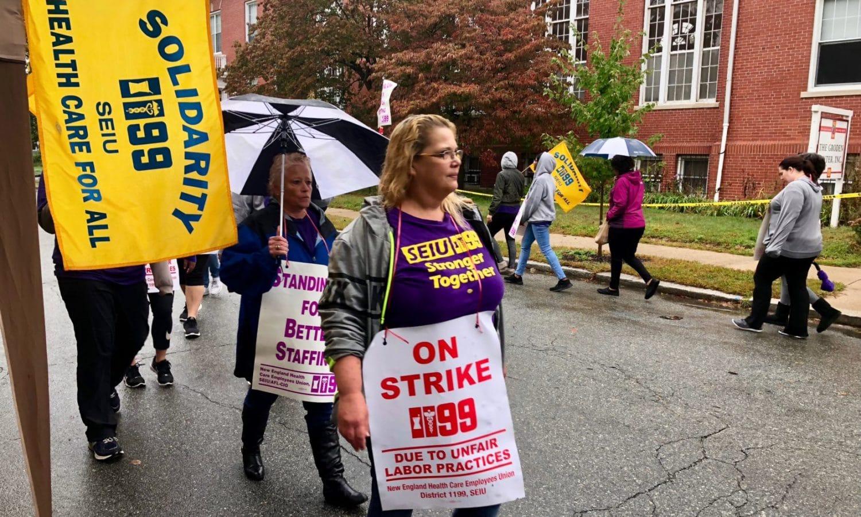 Groden Center educators on strike – Uprise RI
