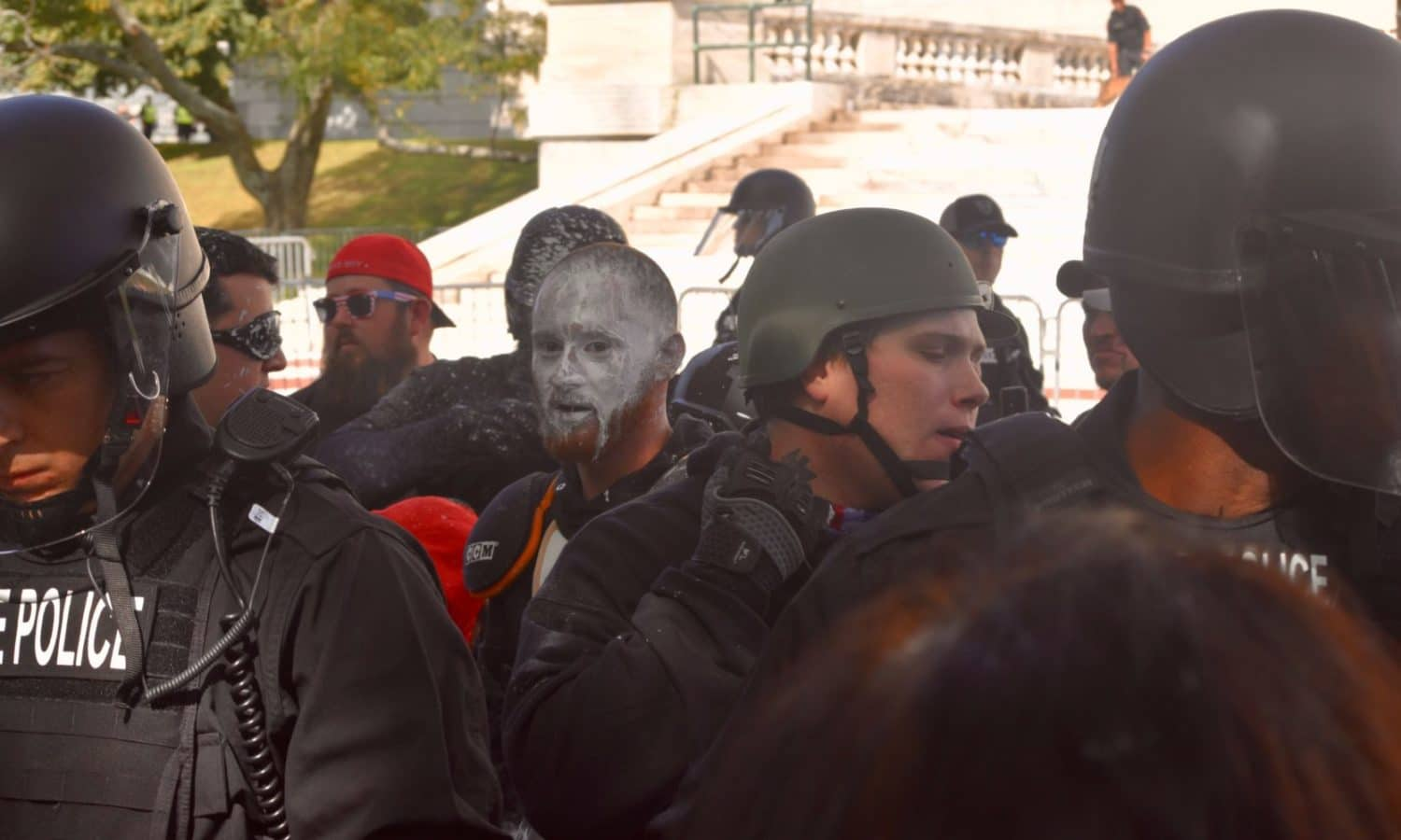 Photo for Hate groups shut down their own rally with violence