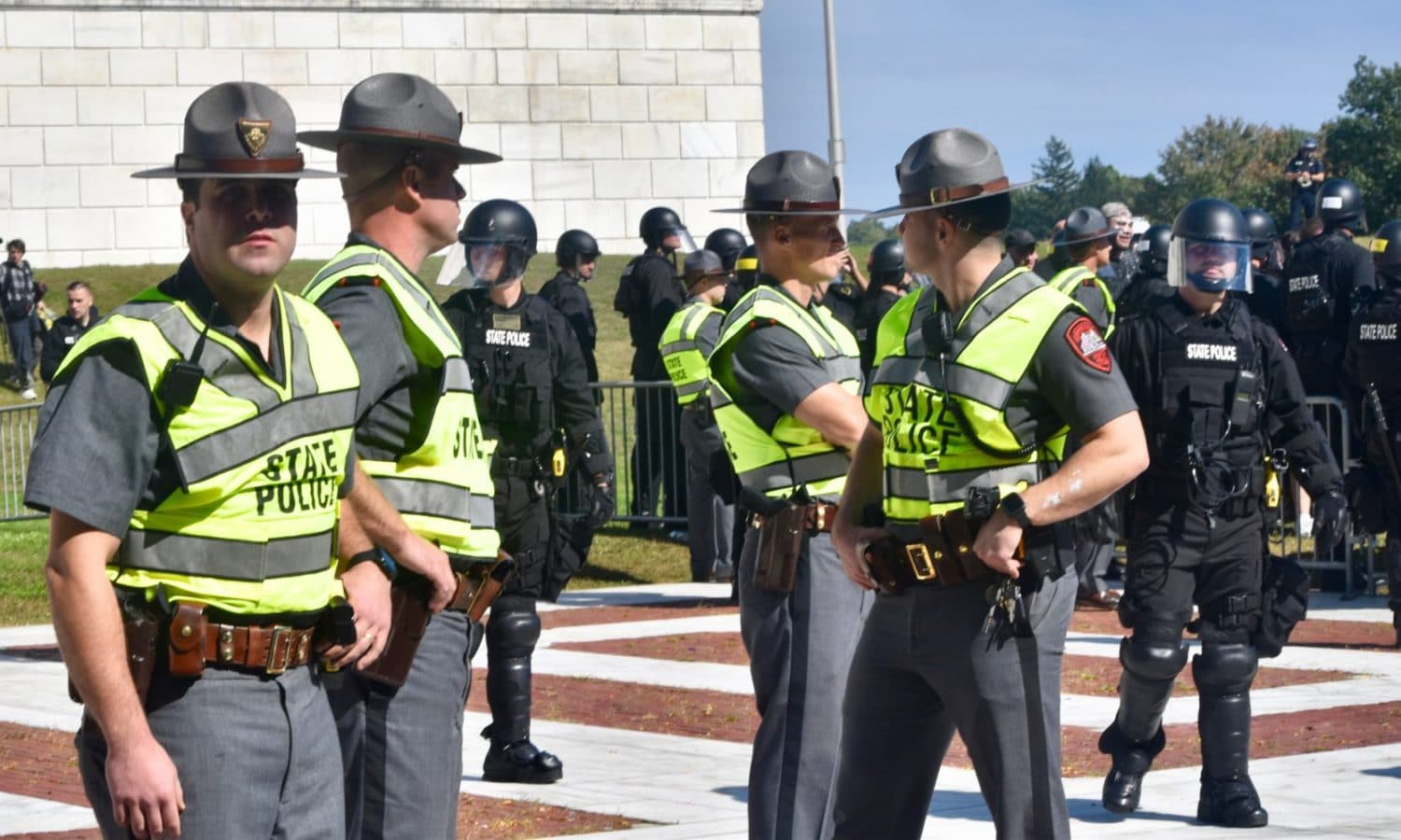 Photo for Corvese bill would ban riot gear on attendees of rallies, parades