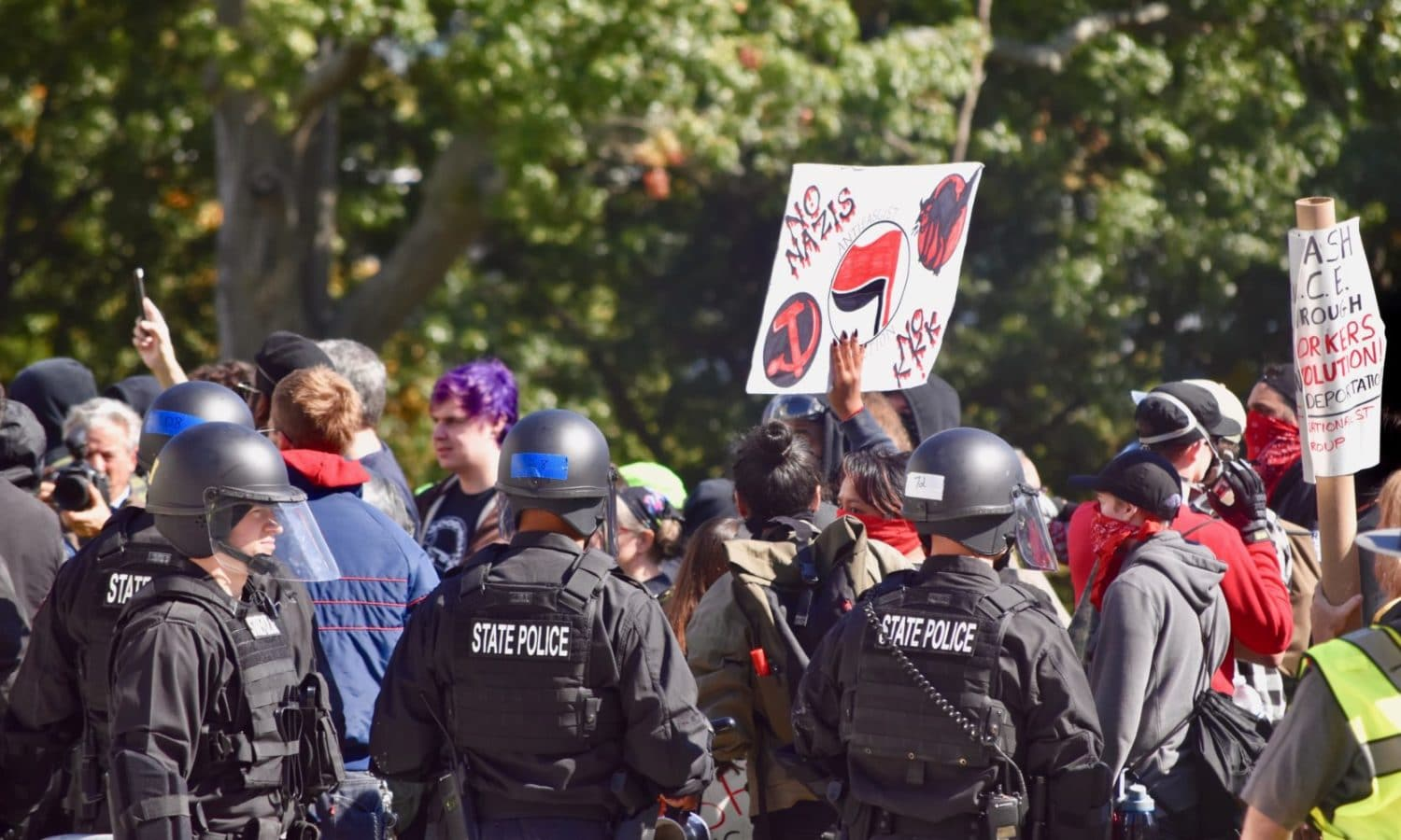 Photo for Bill to unmask protesters will foster fascism