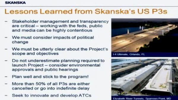 Photo for Skanska's public-private partnership sales pitch at the State House