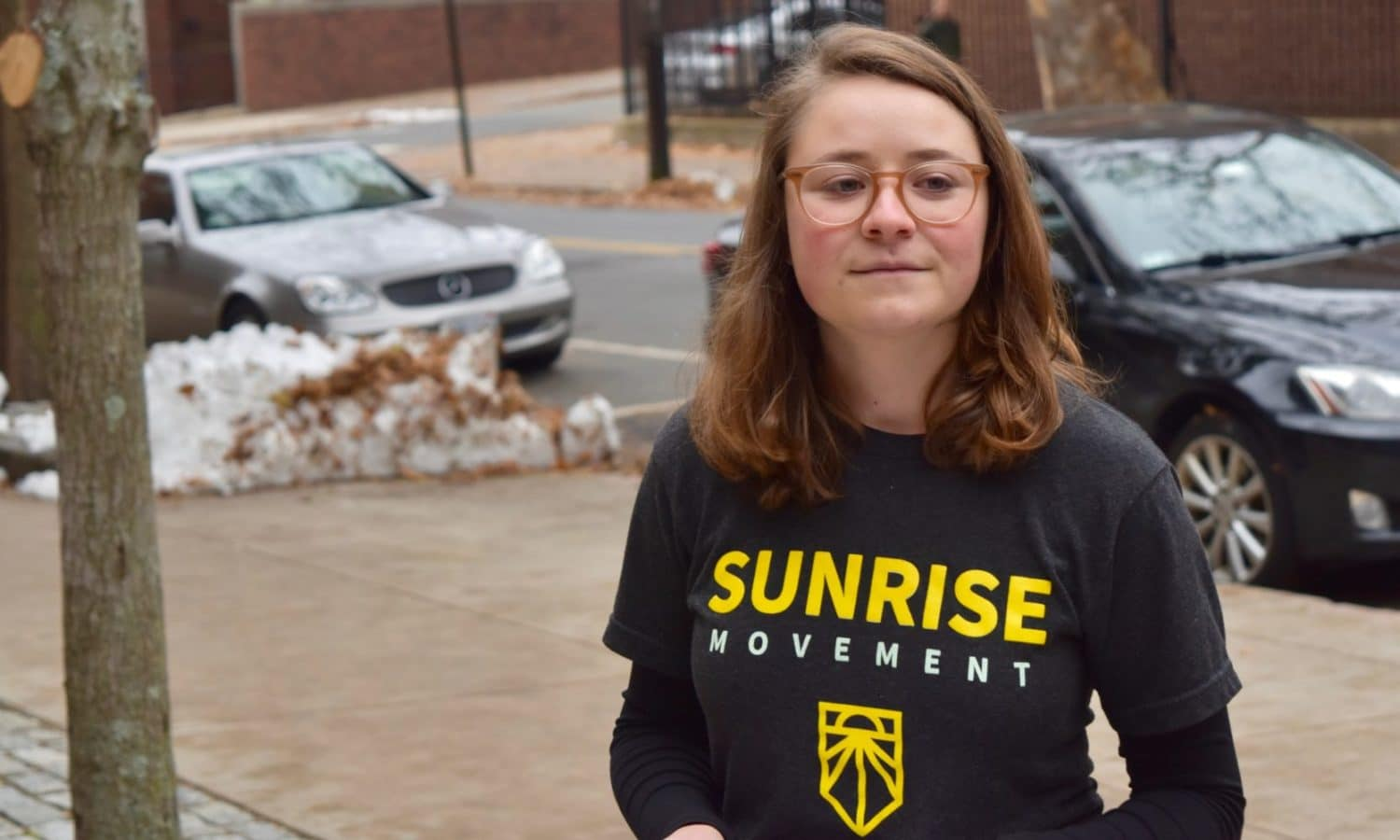 Photo for Sunrise RI disrupts Tom Perez event at Brown over DNC's lack of urgency on climate change