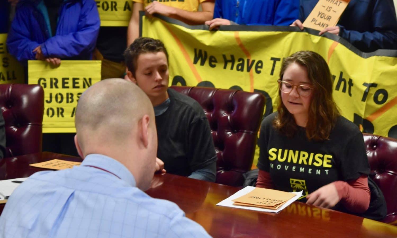 Photo for Sunrise RI asks Cicilline to support Ocasio-Cortez's Green New Deal resolution