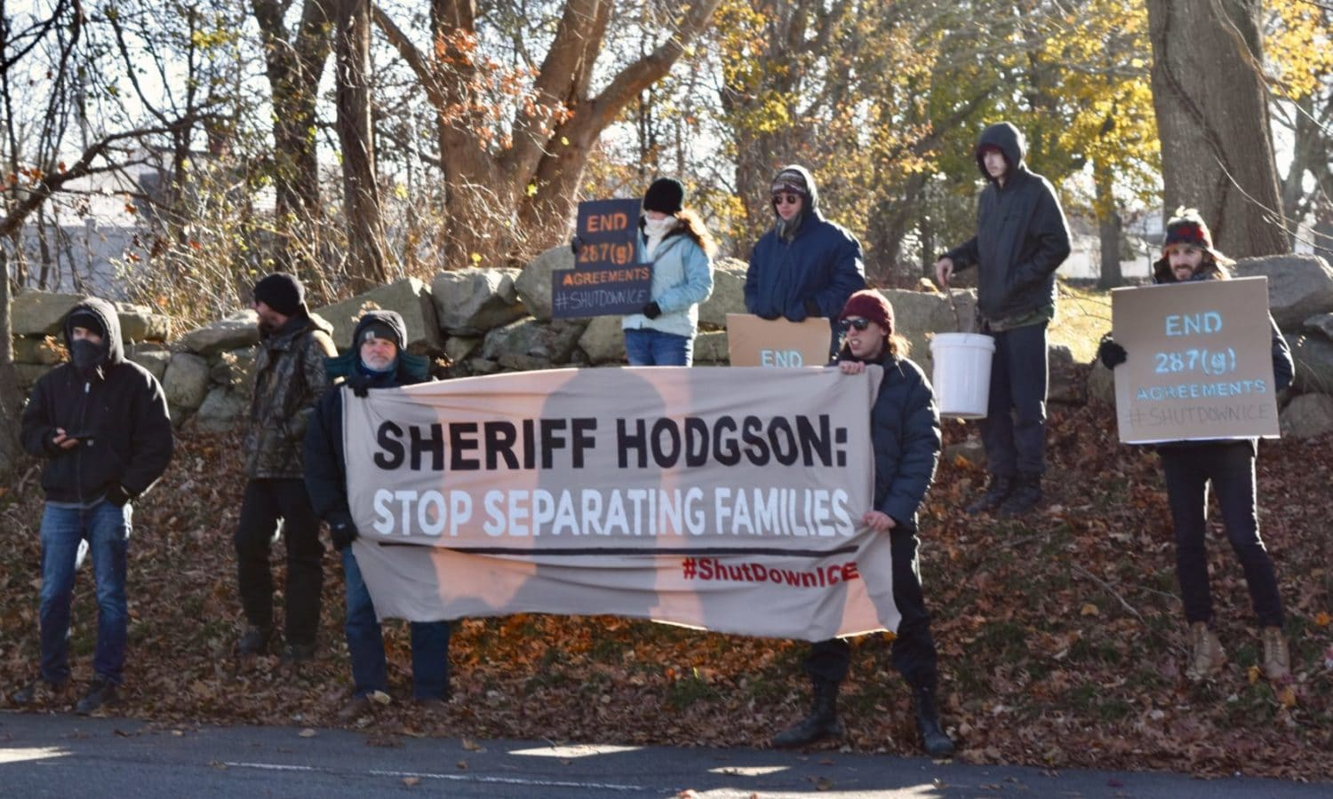 Photo for Sheriff Hodgson helps ICE separate families, earns protesters outside his home on Thanksgiving