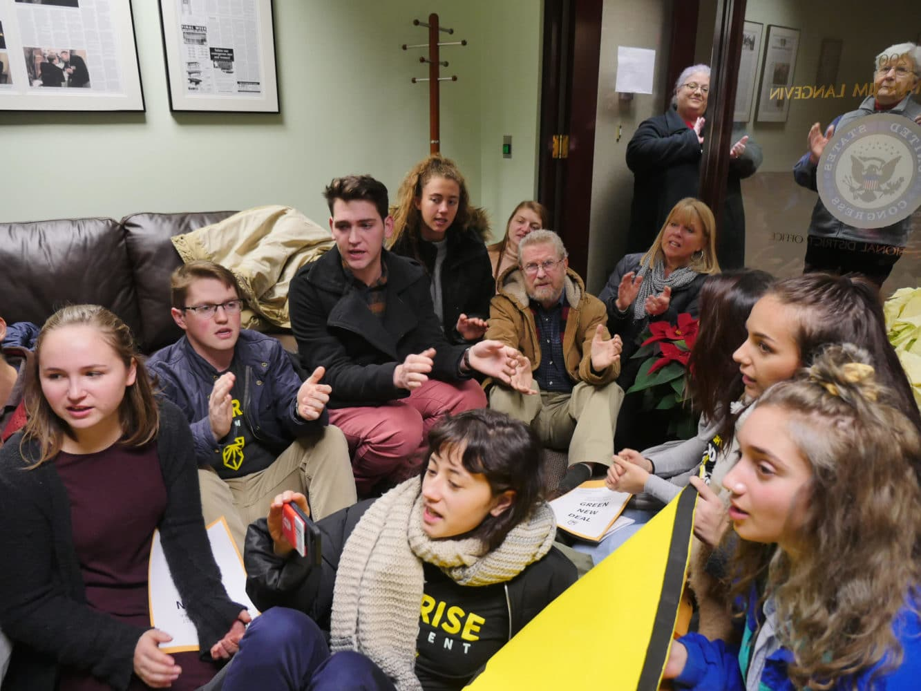 Photo for Sunrise RI demands a plan from Representative Langevin for Climate Crisis