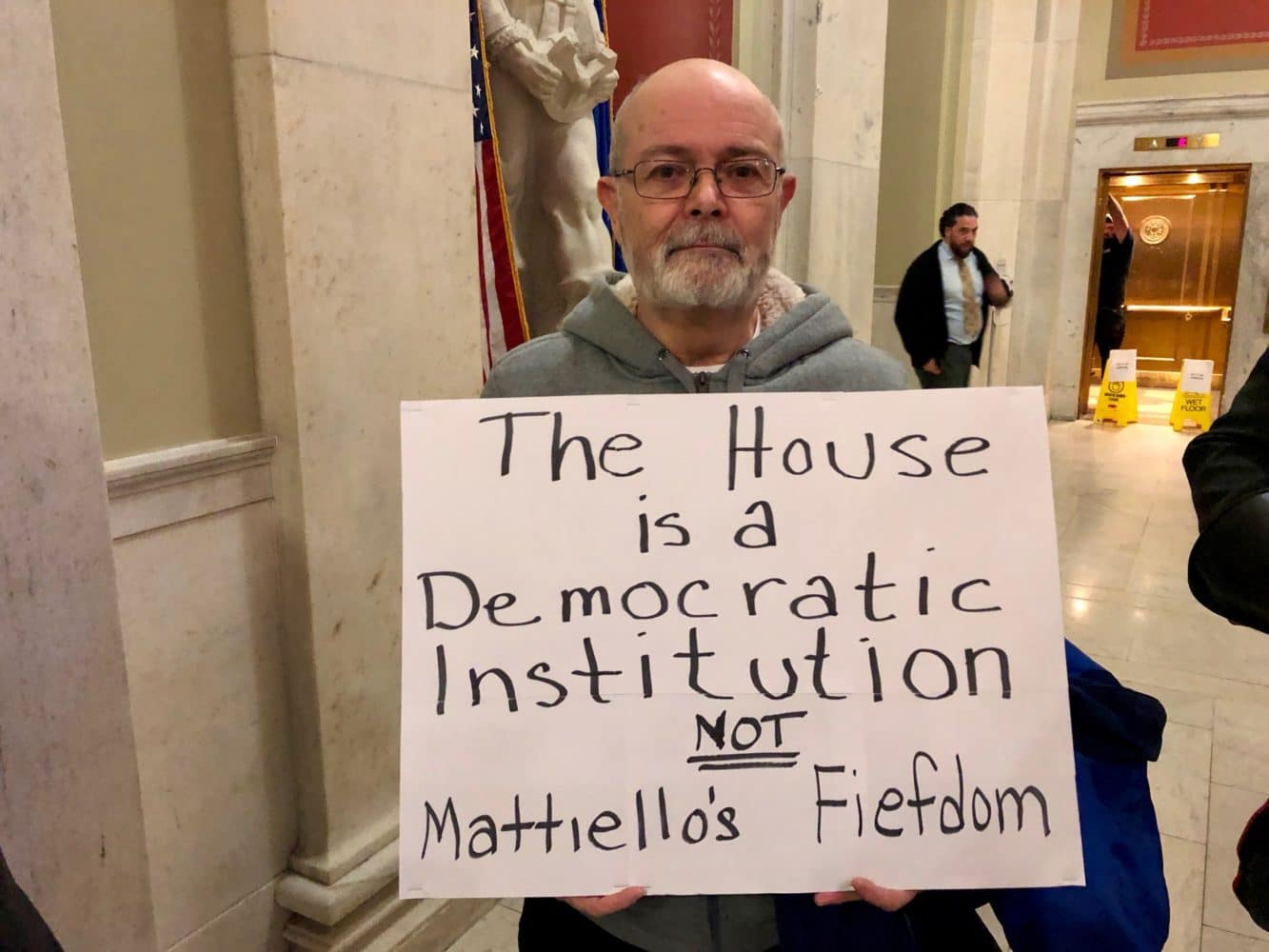 Photo for Protesters rock the House during Mattiello's ascendancy to Speaker