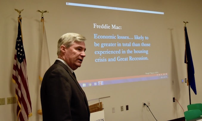 Photo for Senator Whitehouse suspects Invenergy's defeat in the EFSB hearings a 'slam dunk'