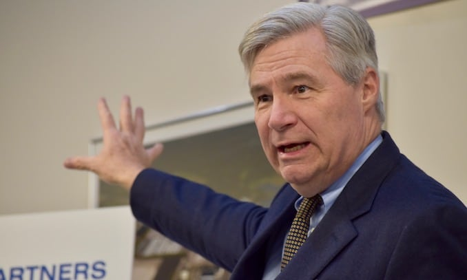 Photo for Reversing course, Senator Whitehouse now believes it is proper to involve himself in rule of law proceedings