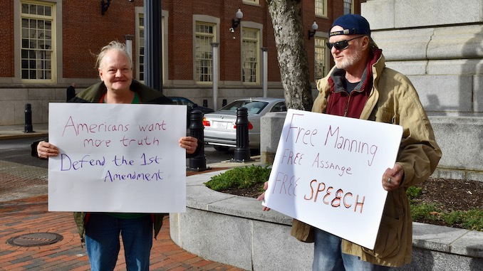 Photo for A rally for Wikileaks, Chelsea Manning and a free press