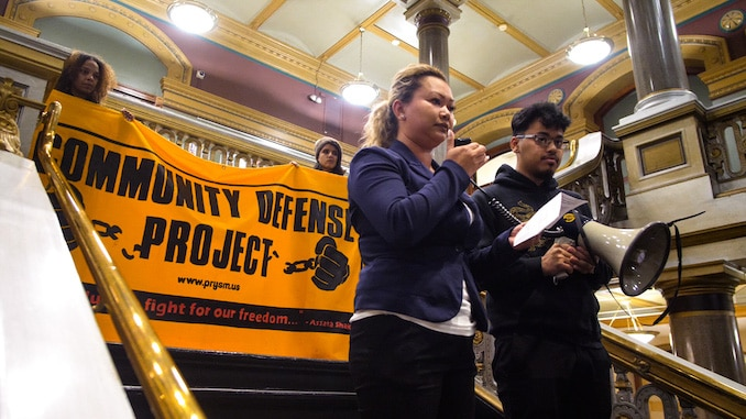 Selene Means: Photos from PrYSM protest at Providence City Hall