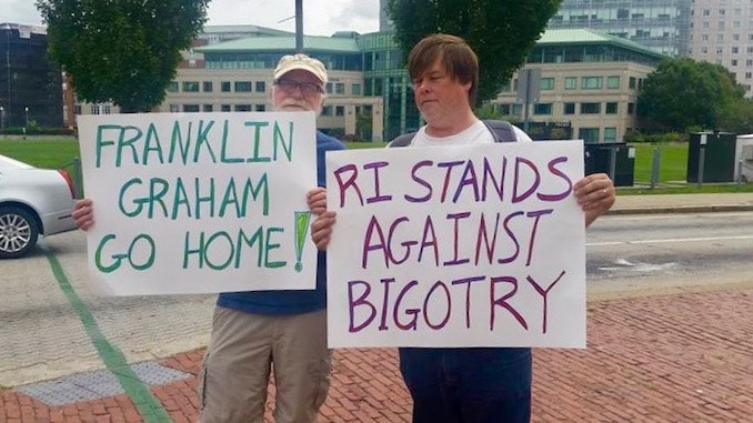 Franklin Graham's hate and fear not wanted in Rhode Island – Uprise RI
