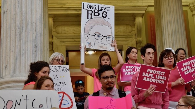 Photo for Abortion debate at Rhode Island State House intensifies