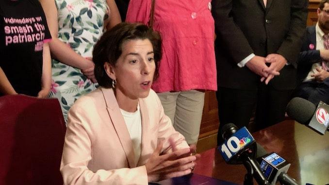 Photo for Governor Gina Raimondo signs bill codifying Roe v Wade into Rhode Island State Law