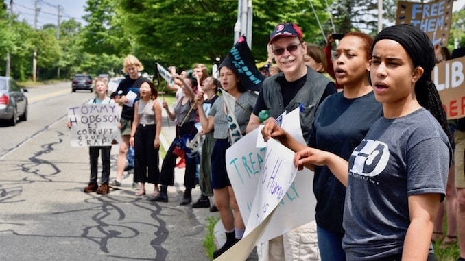 Photo for FANG Collective protests outside Bristol County House of Correction