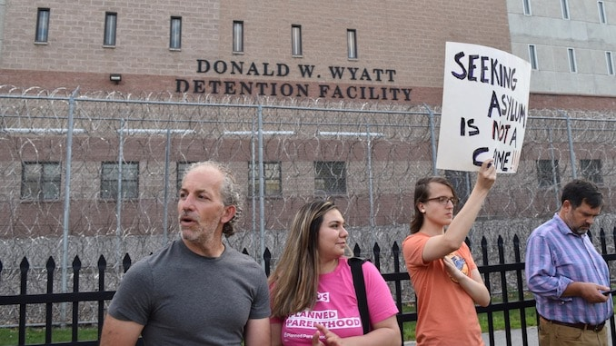 Image result for wyatt detention center protest
