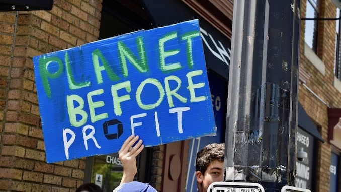 Photo for Activists demand that Chase Bank stop funding the climate crisis, call for Rhode Island boycott of new local branches