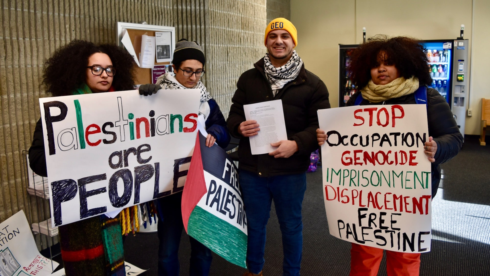Photo for Student protesters target anti-Palestine talk on RIC campus