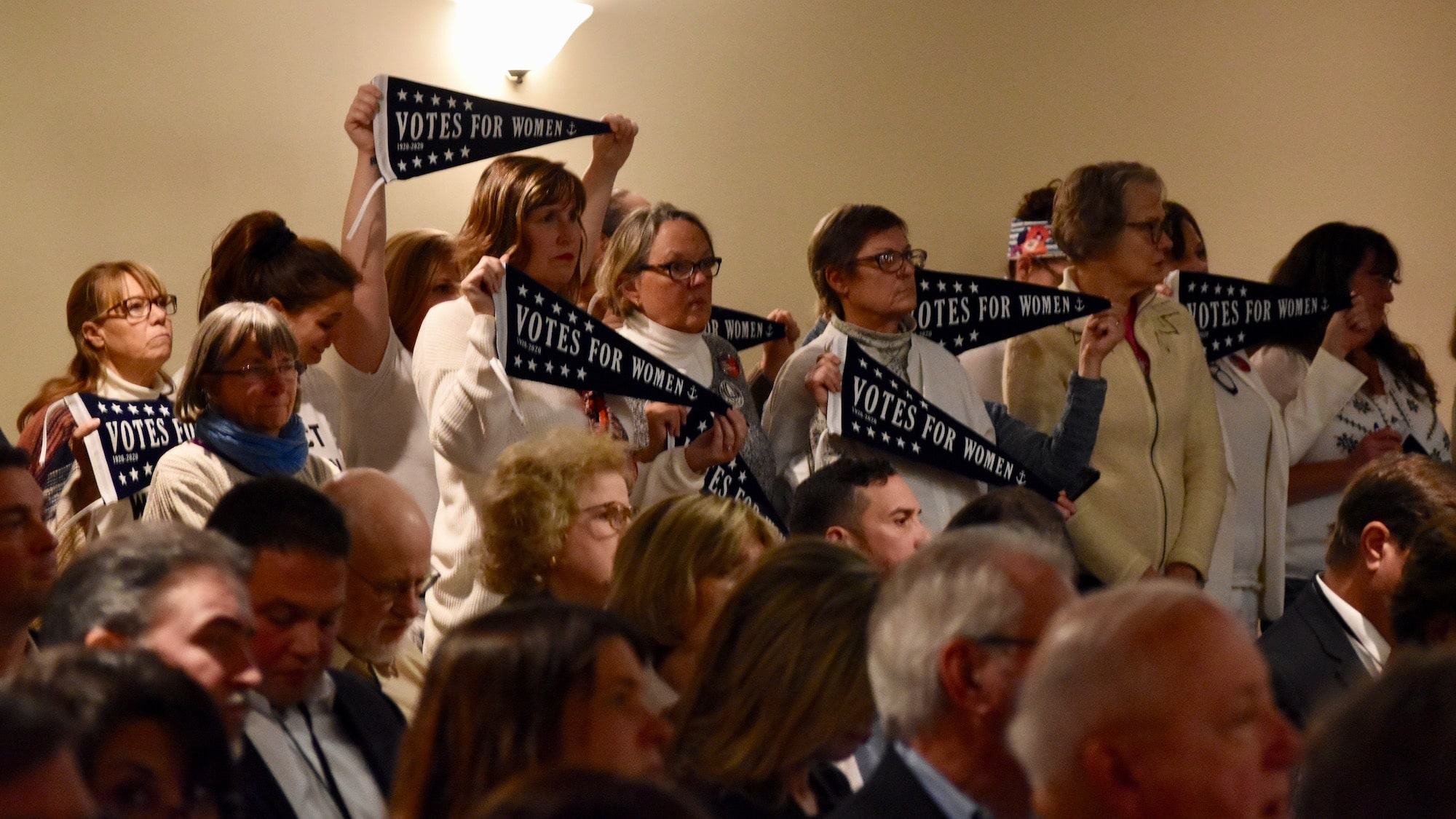 Photo for Rhode Island Democratic Party passes bylaws revision over vocal objections from Women's Caucus