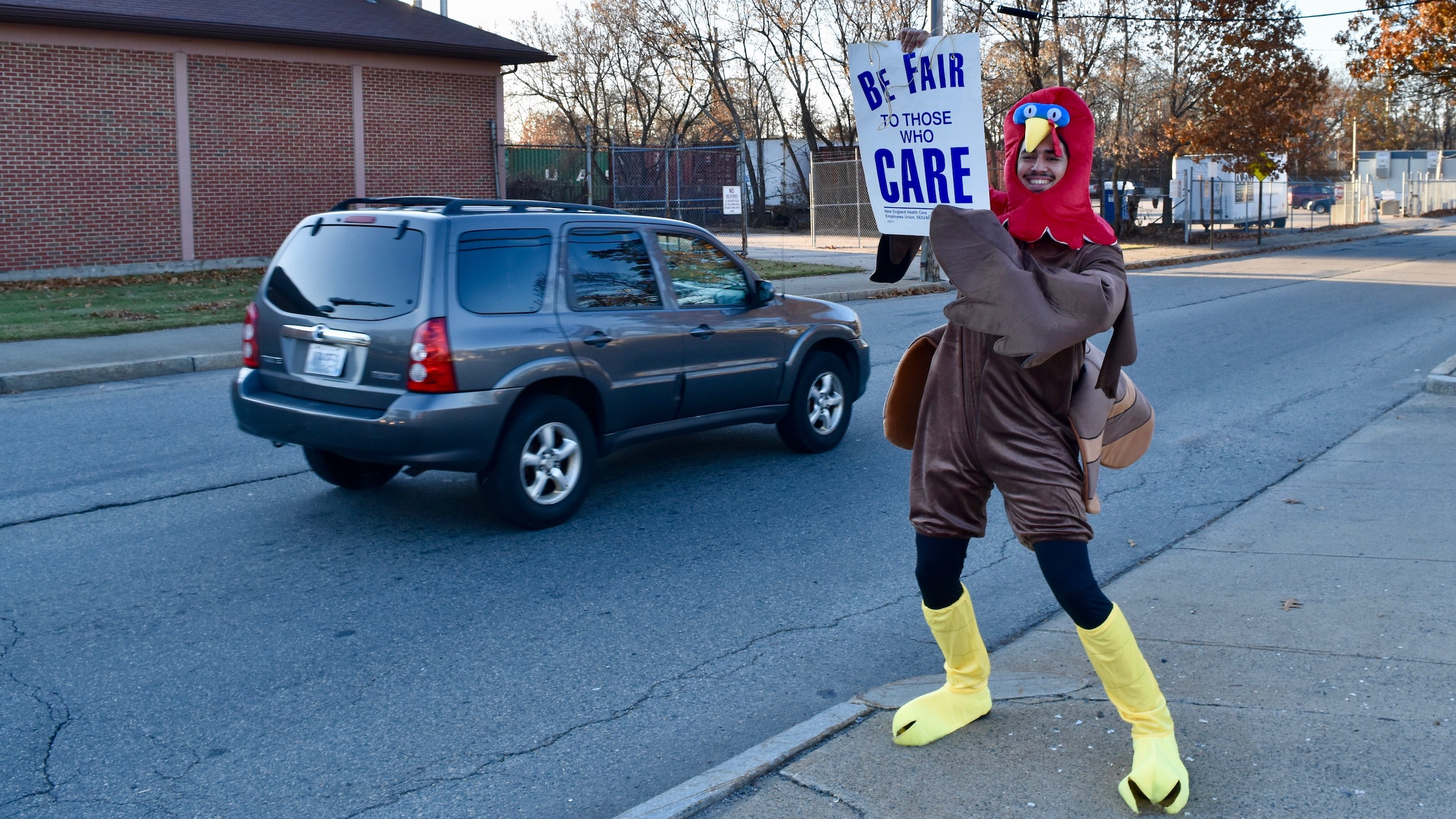 Photo for Caregivers picket in Pawtucket for better staffing and a living wage