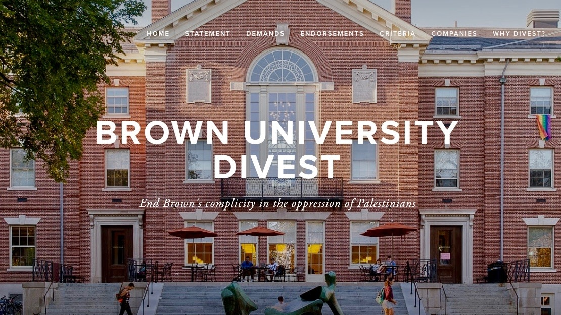 """Photo for Brown University committee votes to divest from companies """"facilitating human rights violations in Palestine"""""""