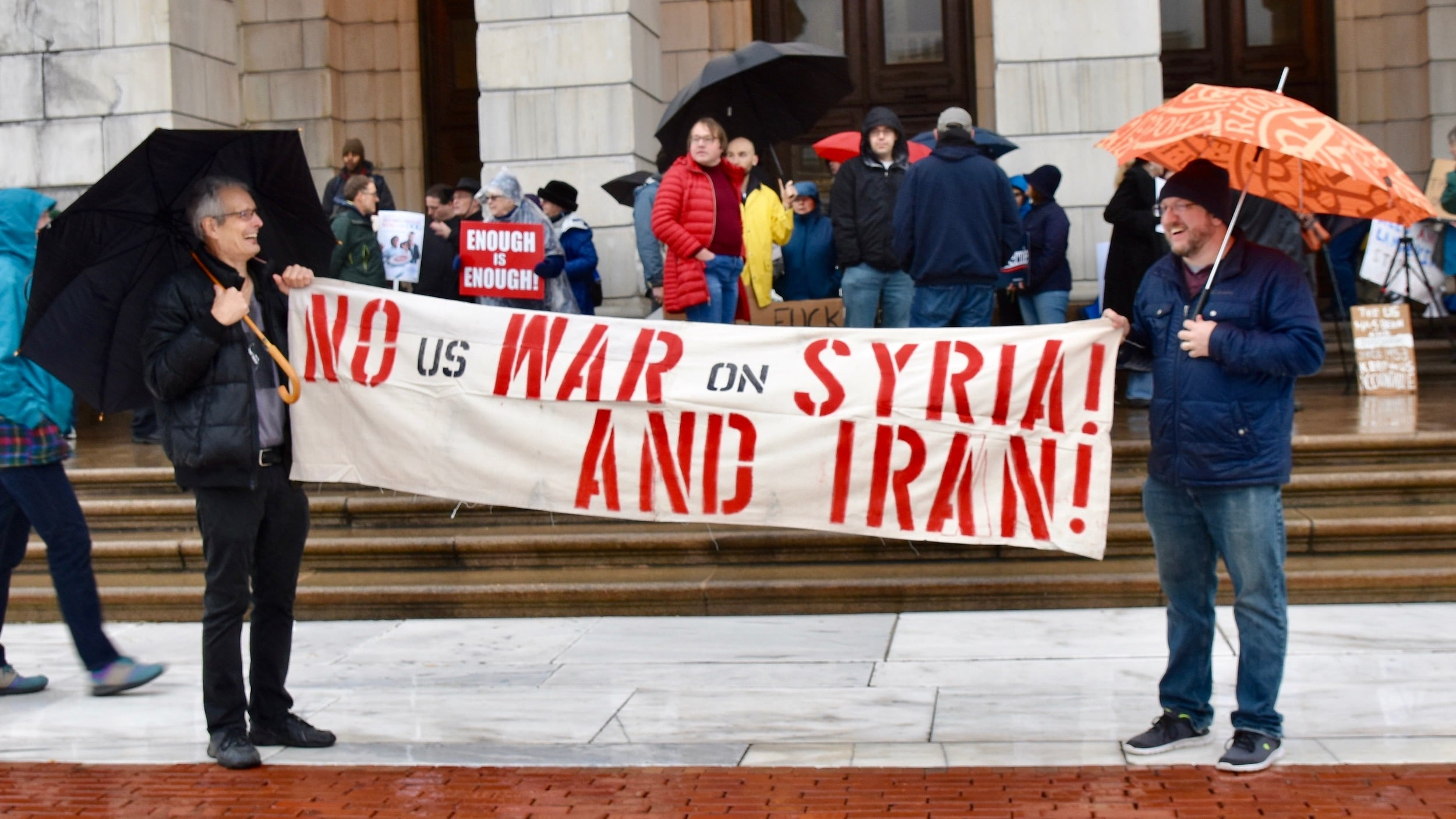 Photo for Rhode Islanders rally against war with Iran