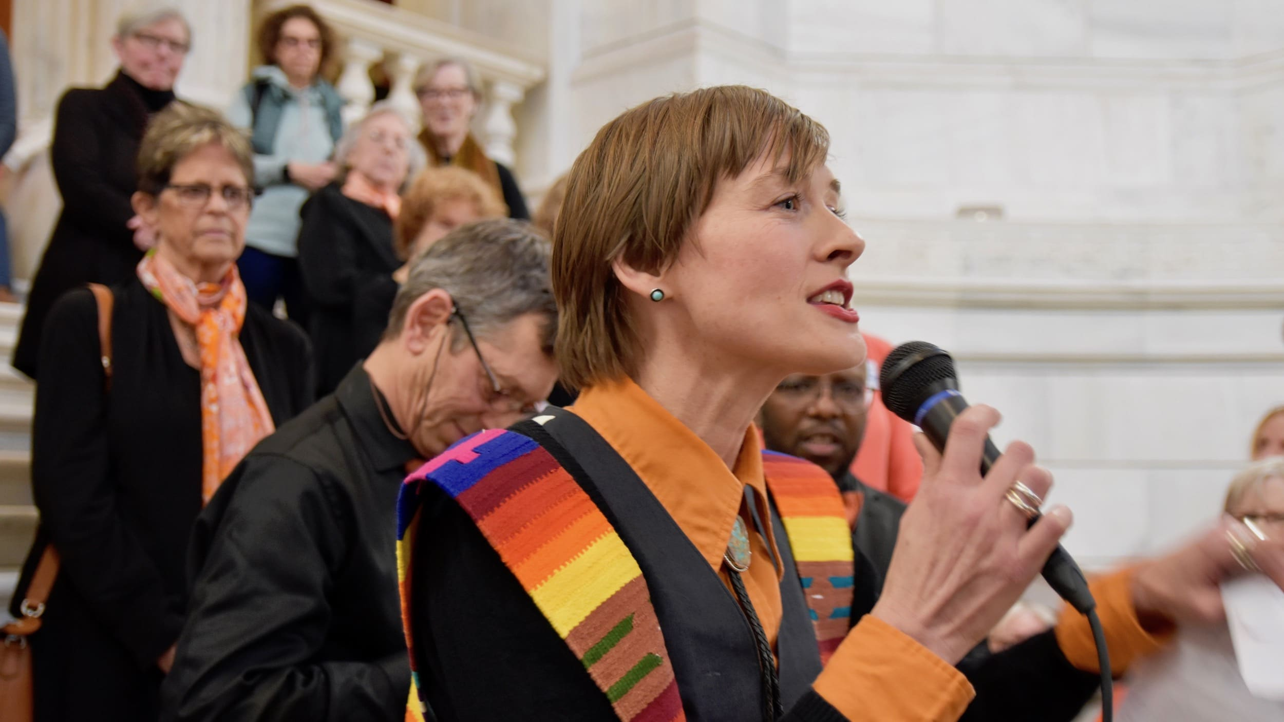 Photo for Faith Leaders rally at the RI State House for gun violence prevention policies