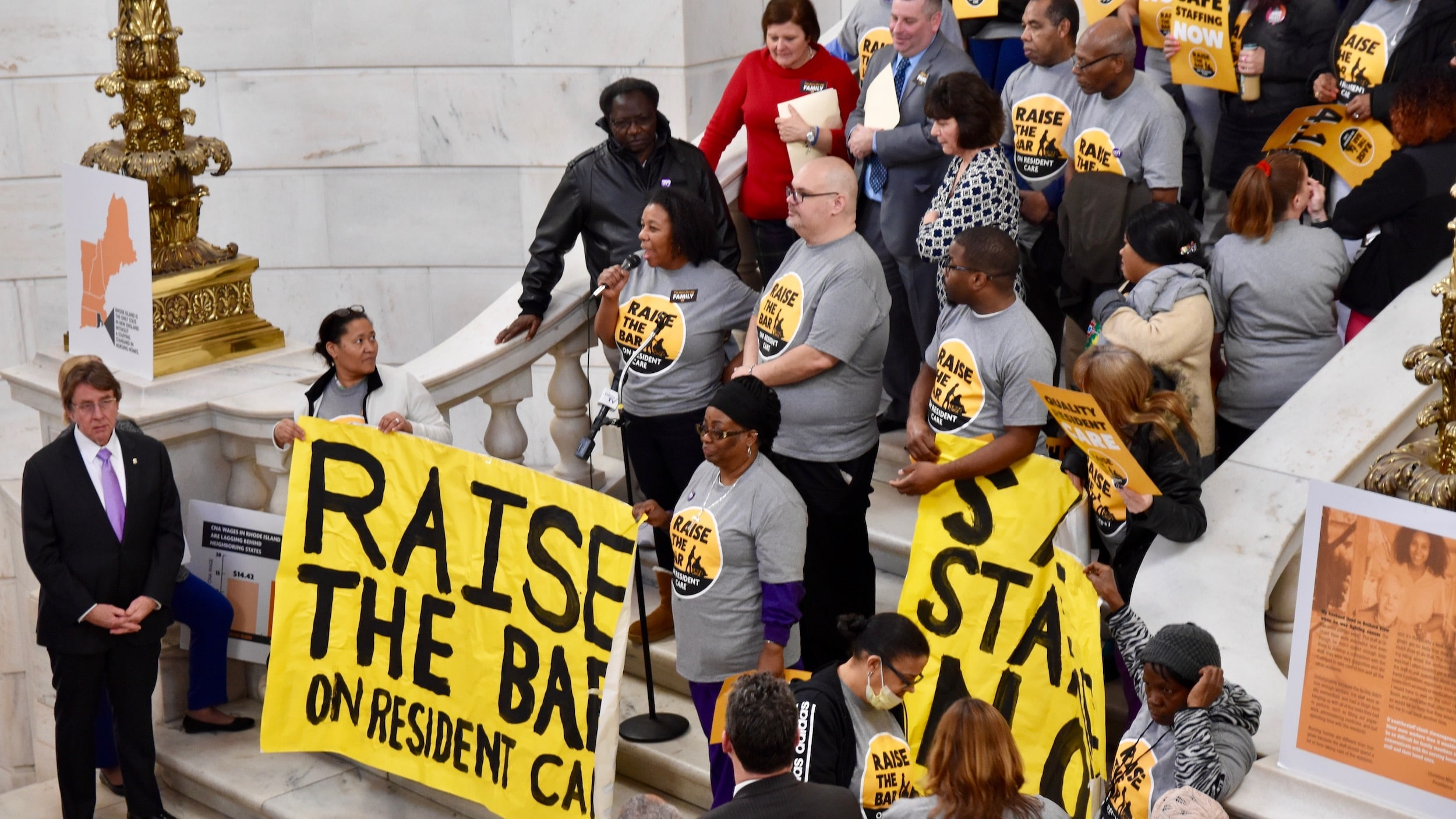 Photo for Hundreds rally at State House to support The Nursing Home Staffing and Quality Care Act