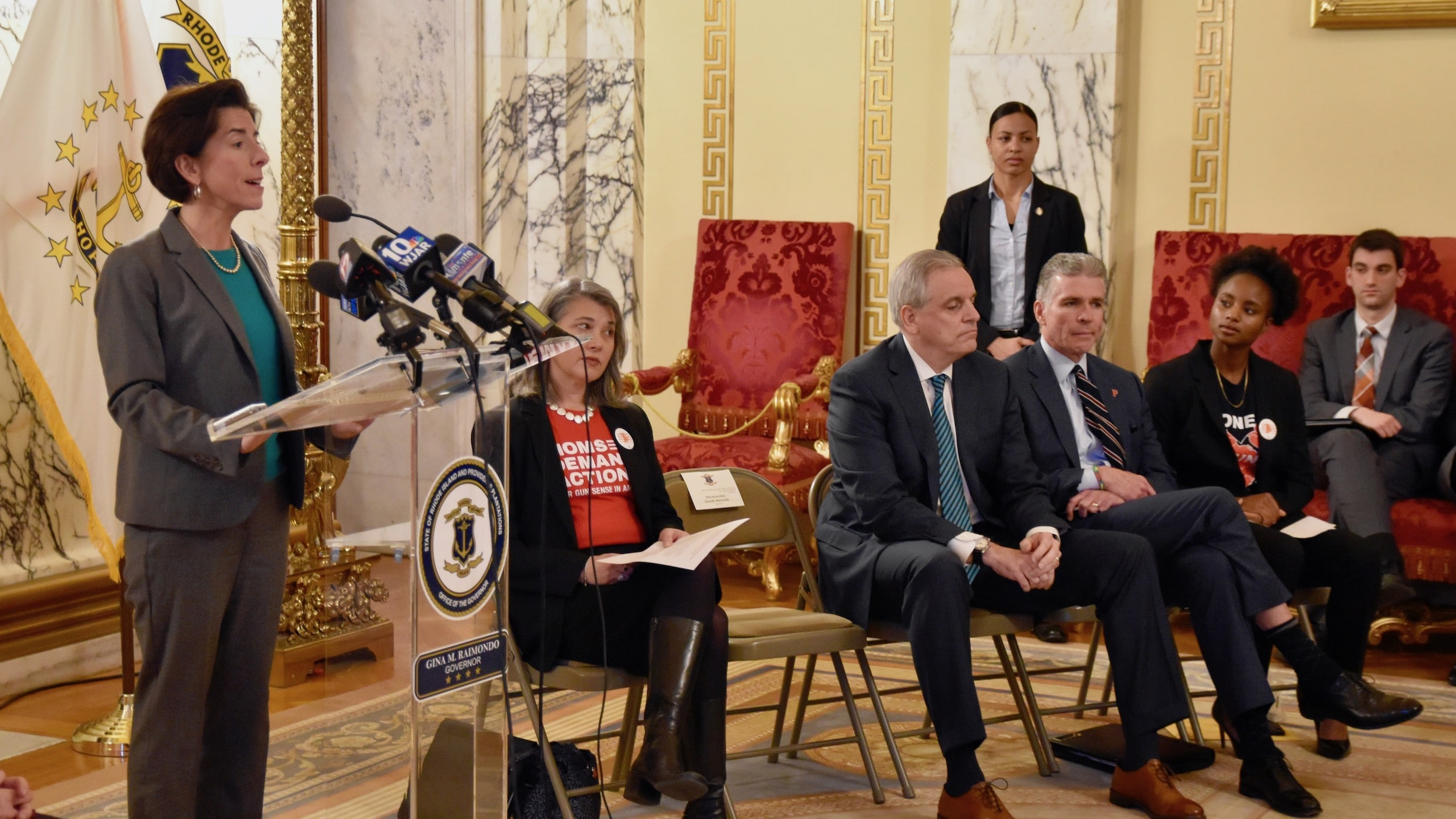 Photo for Governor Raimondo and AG Neronha unveil package of gun violence prevention bills