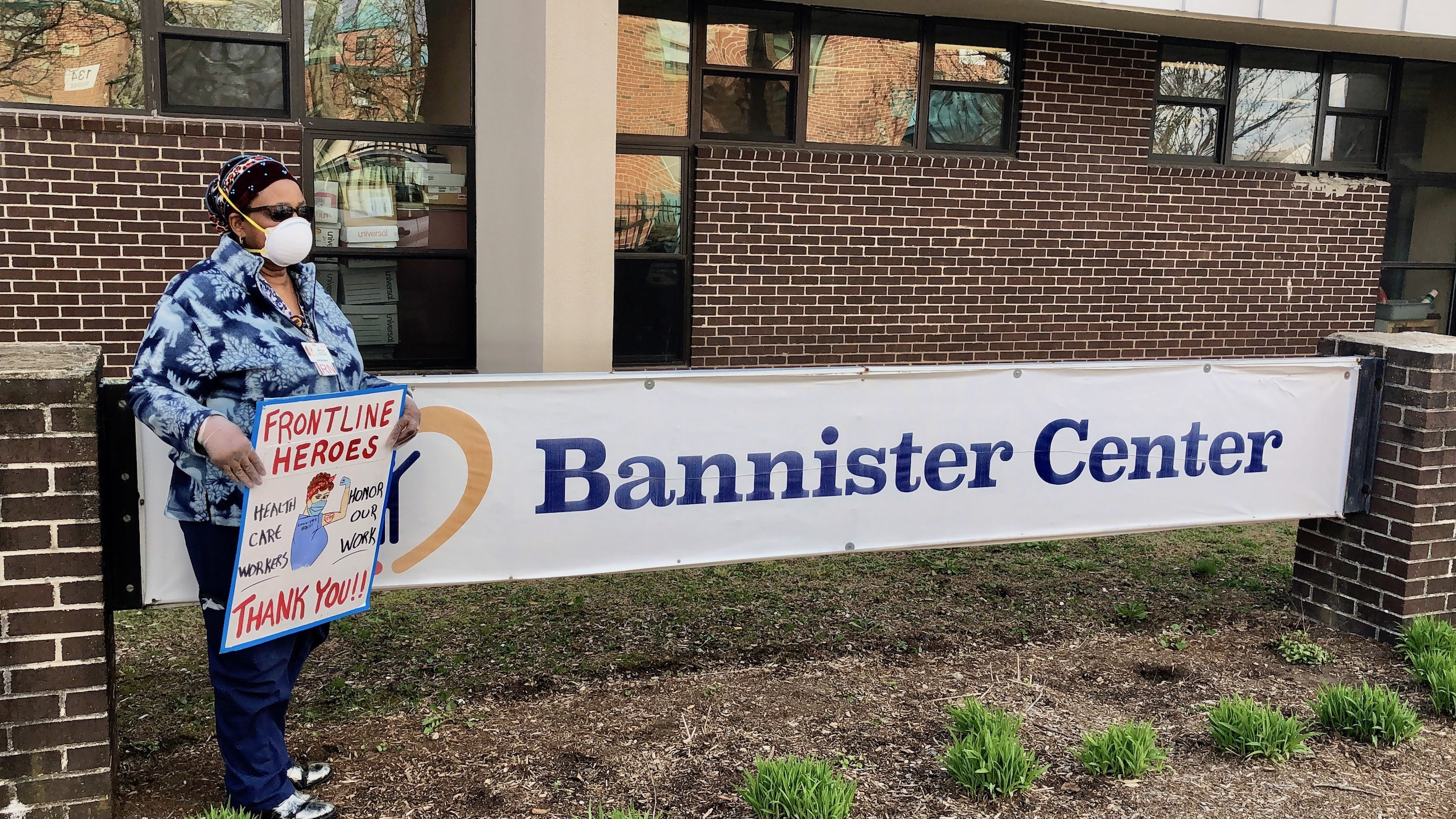 Photo for Front line workers demand Bannister Center provide hazard pay, PPE and safe staffing