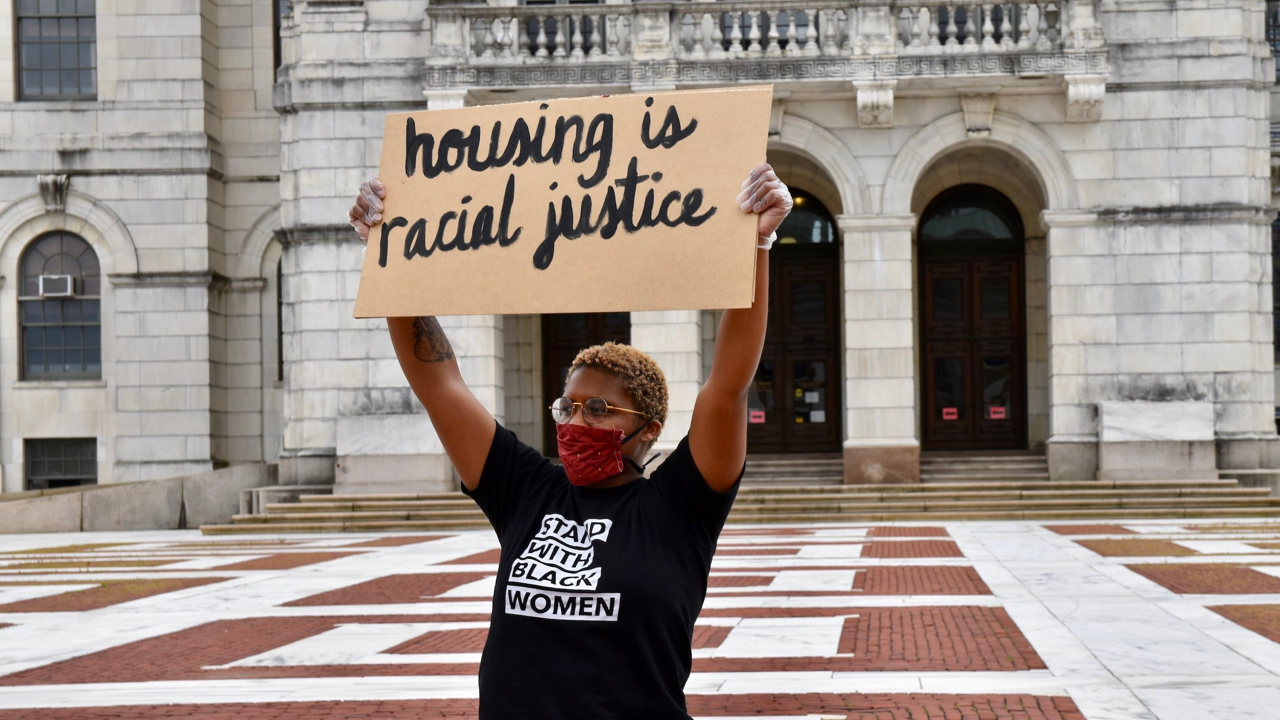 Photo for State House Rally calls for an eviction moratorium and rental assistance
