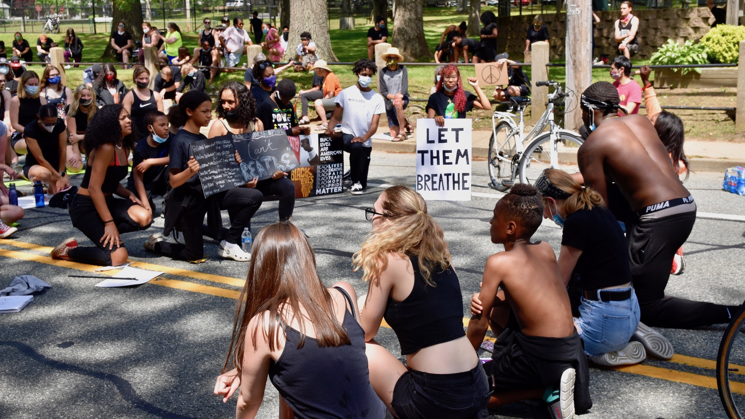 Photo for Hundreds march in South Kingstown because Black Lives Matter