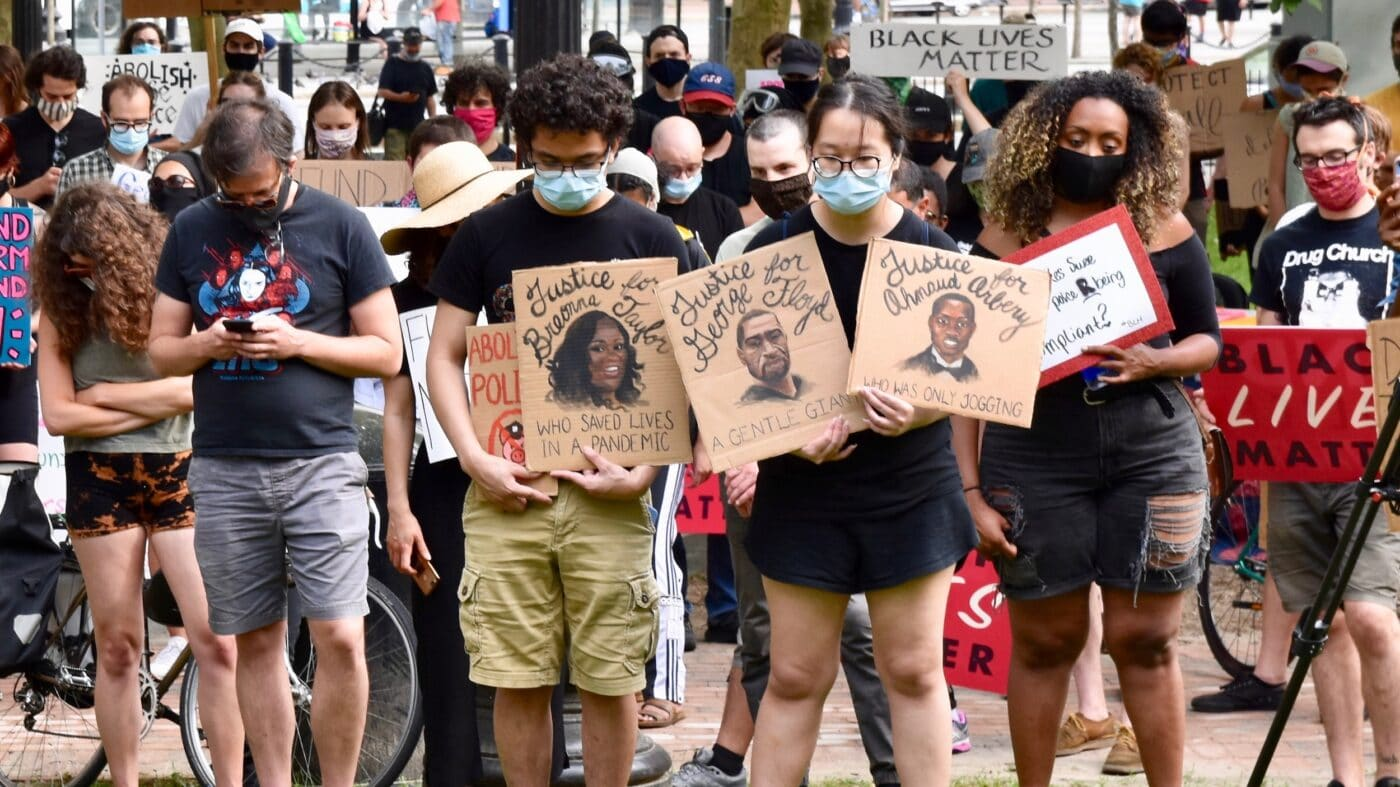 Providence rally to defund the police draws hundreds