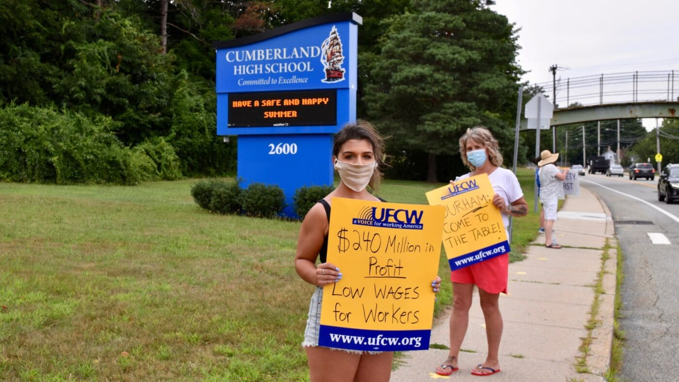 With a month to go before school starts in Cumberland, school bus company won't negotiate contract in good faith, say workers