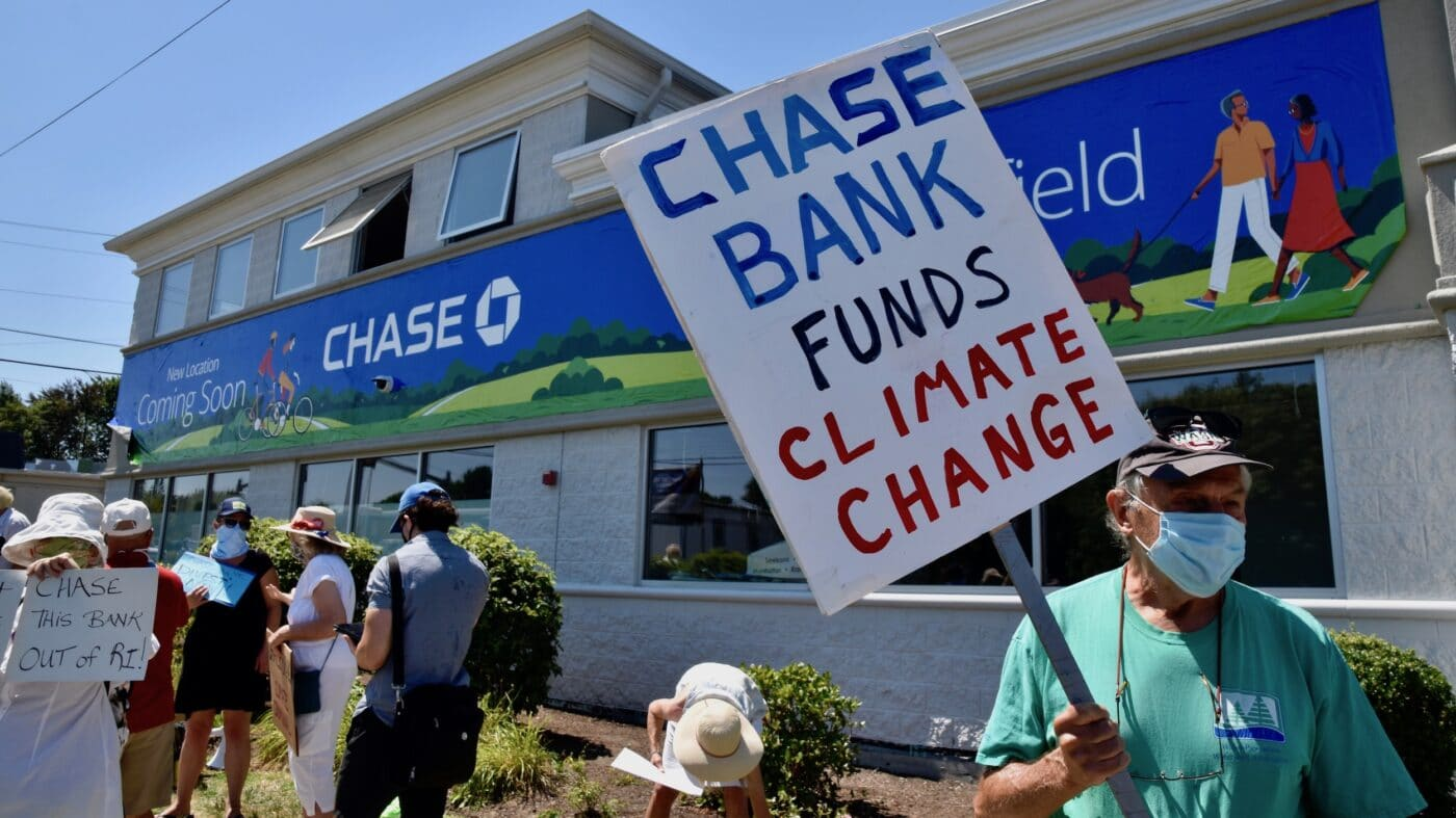 Activists protest new Chase Bank location in Wakefield