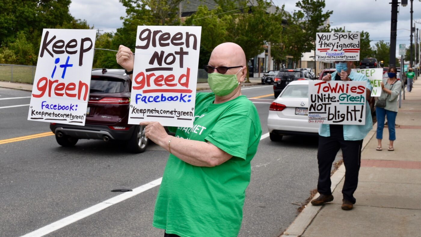 Keep Metacomet Green brings their message to East Providence City Hall